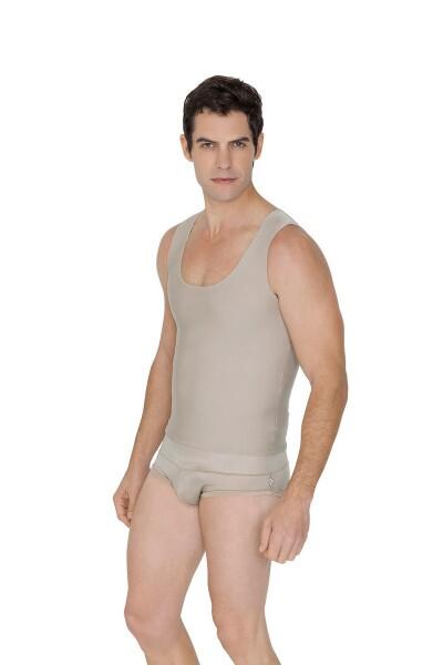 Colete postural masculino, Alta compressão, 2071 BEGE